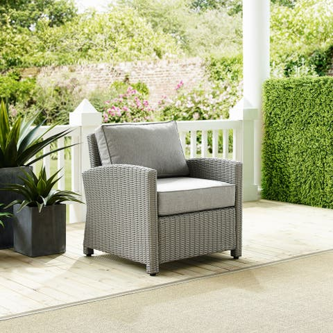 Cambridge Bay Grey Wicker Arm Chair by Havenside Home