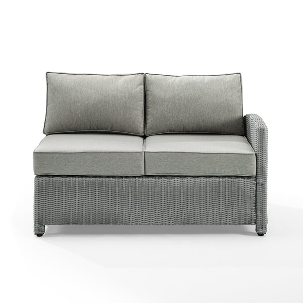 Sensational Shop Havenside Home Cambridge Bay Grey Wicker Sectional Onthecornerstone Fun Painted Chair Ideas Images Onthecornerstoneorg
