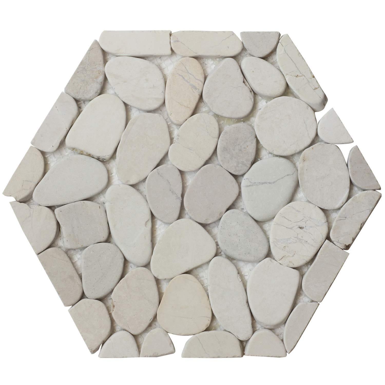 Interlocking Hexagon Shape Pebble