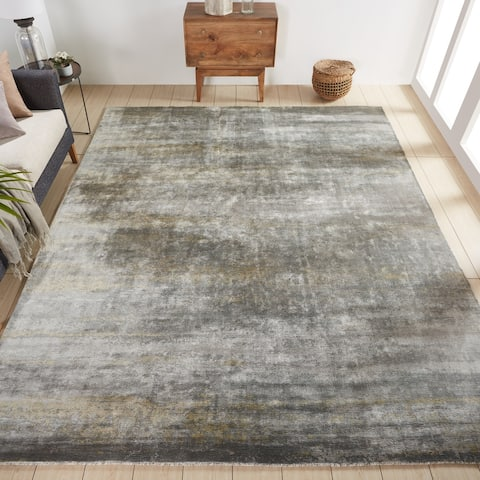 Copper Grove Straseni Grey and Goldtone Area Rug