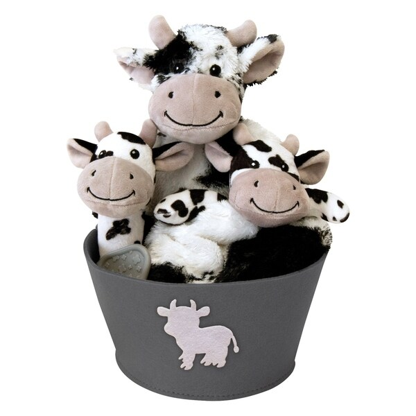 Cow 4 Piece Plush Gift Set Bucket. Opens flyout.