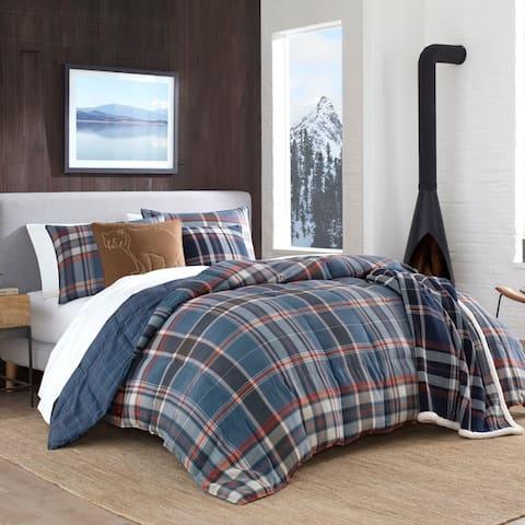 Eddie Bauer Shasta Lake Navy Down Alt Comforter Set