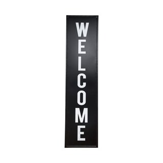 Porch & Den 'Welcome' Black/ White Metal Standing Sign