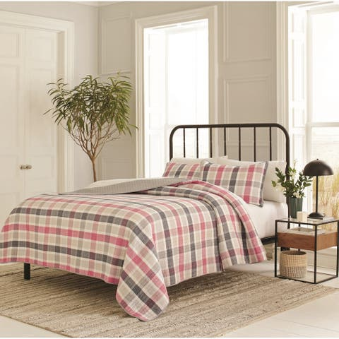 Nautica Hackberry Plaid Cotton Quilt Set