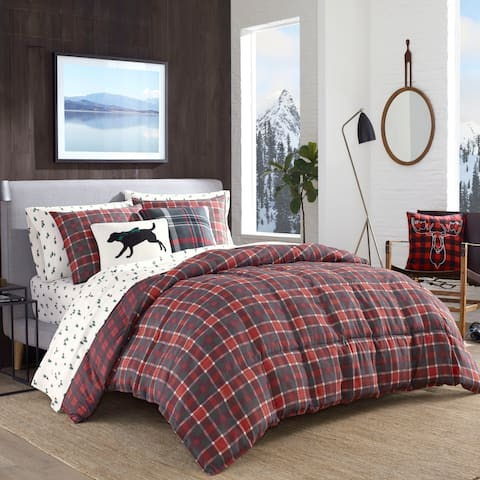Eddie Bauer Timber Tartan Red Down Alt Comforter Set