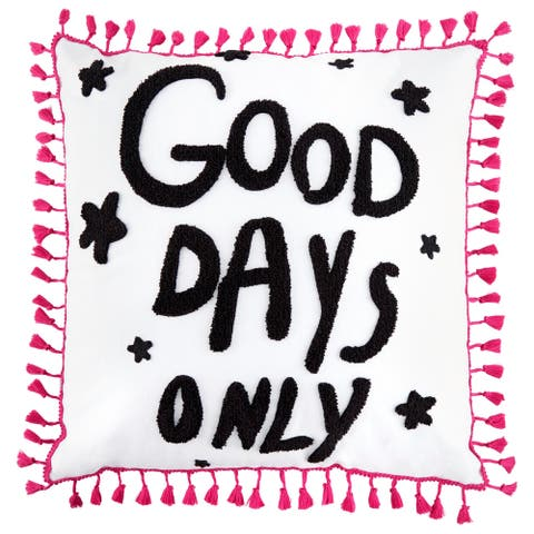 Betsey Johnson Good Days Only Throw Pillow