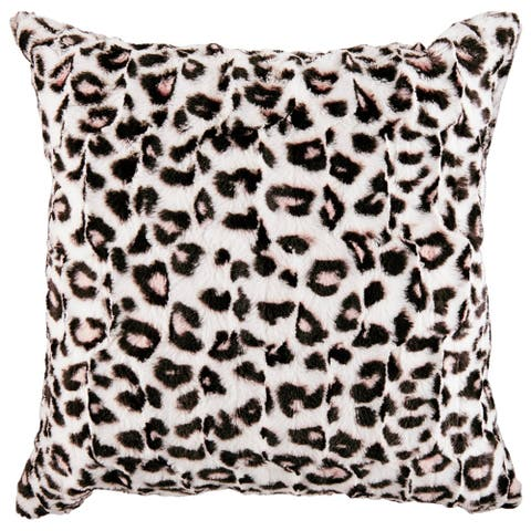 Betsey Johnson Betseys Leopard Pink Throw Pillow