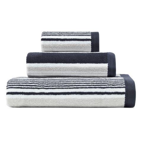 Nautica Agonda Stripe Cotton 3-Piece Towel Set - 3-Piece Set