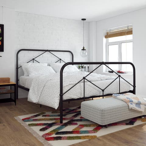Novogratz Francis Farmhouse Metal Bed
