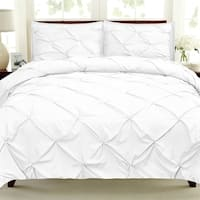 Luxury 9-Piece Pinch Pleat Pintuck Bed-In-a-Bag