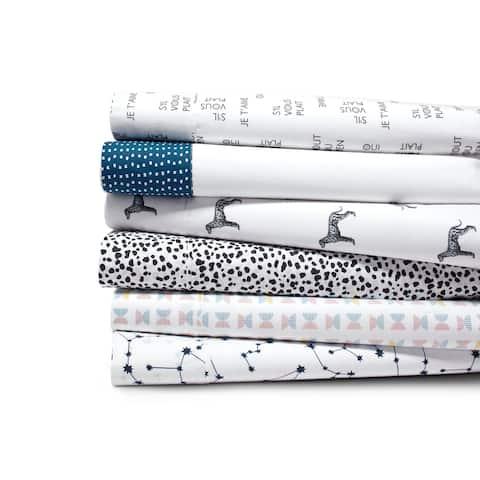 Novogratz Cotton Percale Printed Bed Sheet Sets