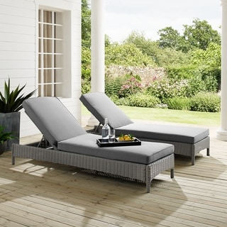 Cambridge Bay Chaise Lounge with Grey Cushions by Havenside Home