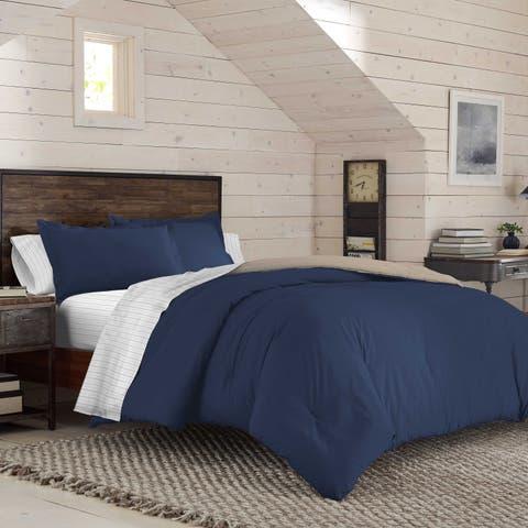 IZOD Solid Reversible 7-pc Comforter Bed in a Bag Set