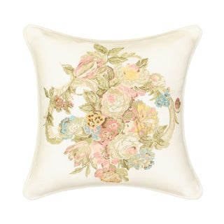 Waverly Spring Bling 16x16 Embroidered Decorative Pillow