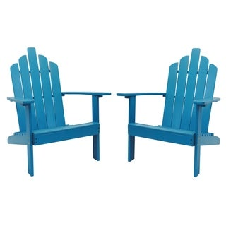 Sunscape Outdoor Patio Solid Wood Adirondack Chair, Set of 2