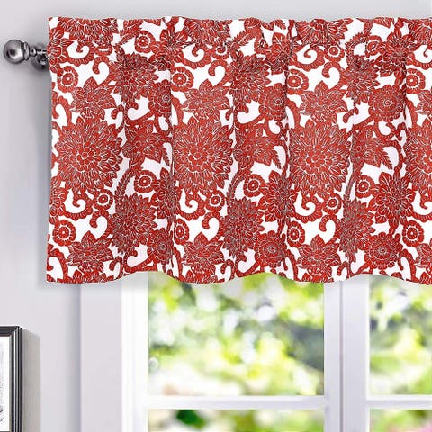 Porch & Den Fircrest Blooming Dahlia Room Darkening Thermal Window Valance