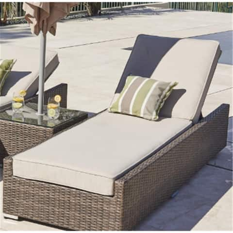 3-piece Direct Wicker Outdoor Wicker Brown Chaise Lounger
