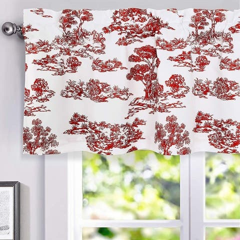 Porch & Den Gentle Woods Toile Sketch Forest Thermal Window Valance