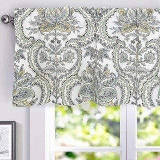Porch & Den Flagstone Flagston Floral Leaves Thermal Window Valance