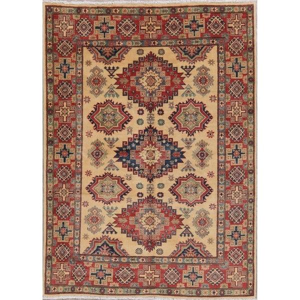 "Hand-Knotted Kazak Oriental Wool Traditional Pakistani Area Rug - 6'9"" x 5'0"""