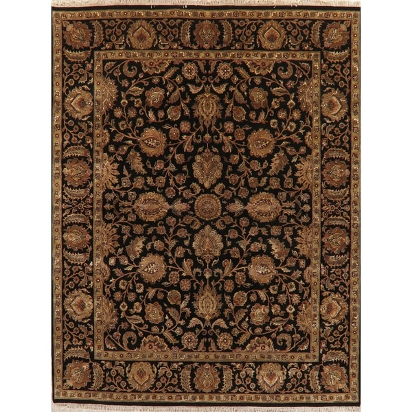 "Agra Oriental Hand-Knotted Traditional Wool Indian Area Rug - 10'3"" x 8'1"""