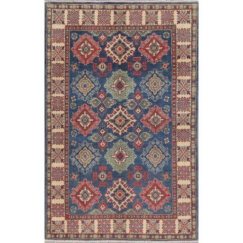 "Oriental Kazak Traditional Hand-Knotted Wool Pakistani Area Rug - 6'2"" x 4'0"""