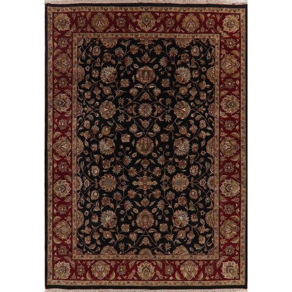 """Agra Oriental Hand Knotted Traditional Wool Indian Area Rug - 12'4"""" x 8'9"""""""
