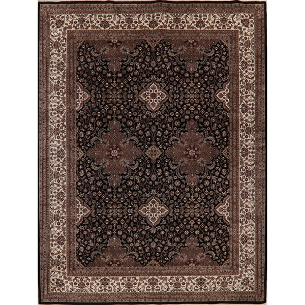 """Agra Oriental Traditional Hand Knotted Wool Indian Area Rug - 12'1"""" x 9'0"""""""