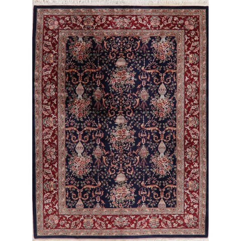 "Floral & Botanical Hand-Knotted Wool Traditional Chinese Area Rug - 12'1"" x 9'0"""