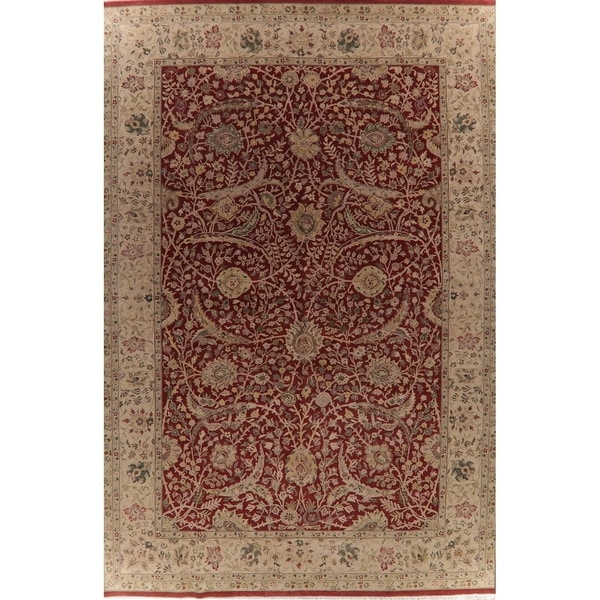 "Agra Oriental Hand Knotted Wool Traditional Indian Area Rug - 18'3"" x 12'3"""