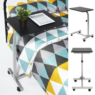 Porch & Den Dowery Adjustable Rolling Laptop Table Stand