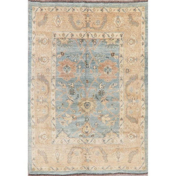 """Muted Distressed Oushak Oriental Hand-Knotted Wool Turkish Area Rug - 7'10"""" x 5'8"""""""