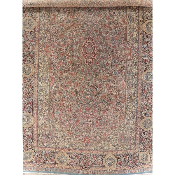 """Oriental Hand-Knotted Wool Traditional Antique Persian Area Rug - 26'6"""" x 15'6"""""""