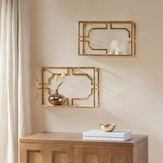 Madison Park Signature Addison Gold Set of 2 Mirror shelf
