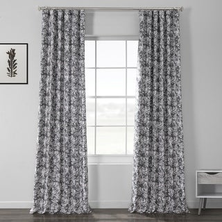 Link to Exclusive Fabrics Botanic Grey Printed Linen Textured Blackout Curtain Similar Items in Blackout Curtains