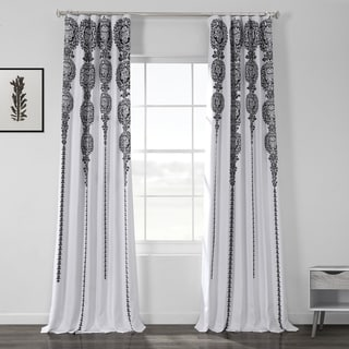 Link to Exclusive Fabrics Cyprus Printed Linen Textured Blackout Curtain Similar Items in Window Treatments