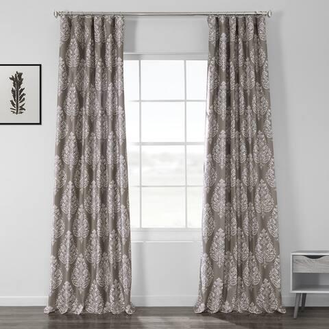Porch & Den Frances Printed Textured Blackout Curtain