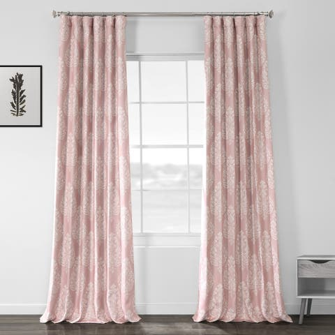 Porch & Den Frances Printed Textured Blackout Curtain