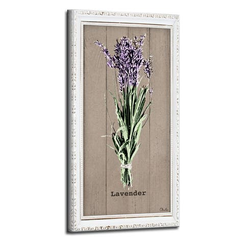 The Gray Barn Botanical 'Lavender' Wrapped Canvas Kitchen Wall Art