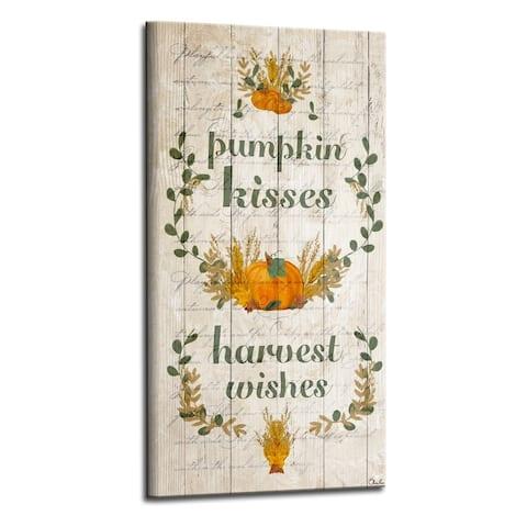 Olivia Rose 'Pumpkin Kisses' Wrapped Canvas Harvest Wall Art