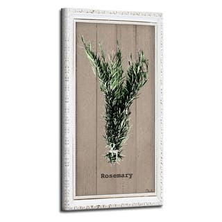 The Gray Barn Botanical 'Rosemary' Wrapped Canvas Kitchen Wall Art