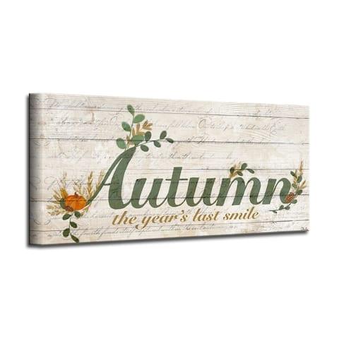 Olivia Rose 'Autumn' Wrapped Canvas Textual Fall Wall Art