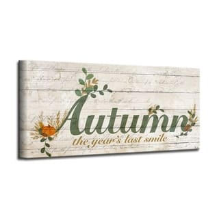 'Autumn' Wrapped Canvas Textual Fall Wall Art