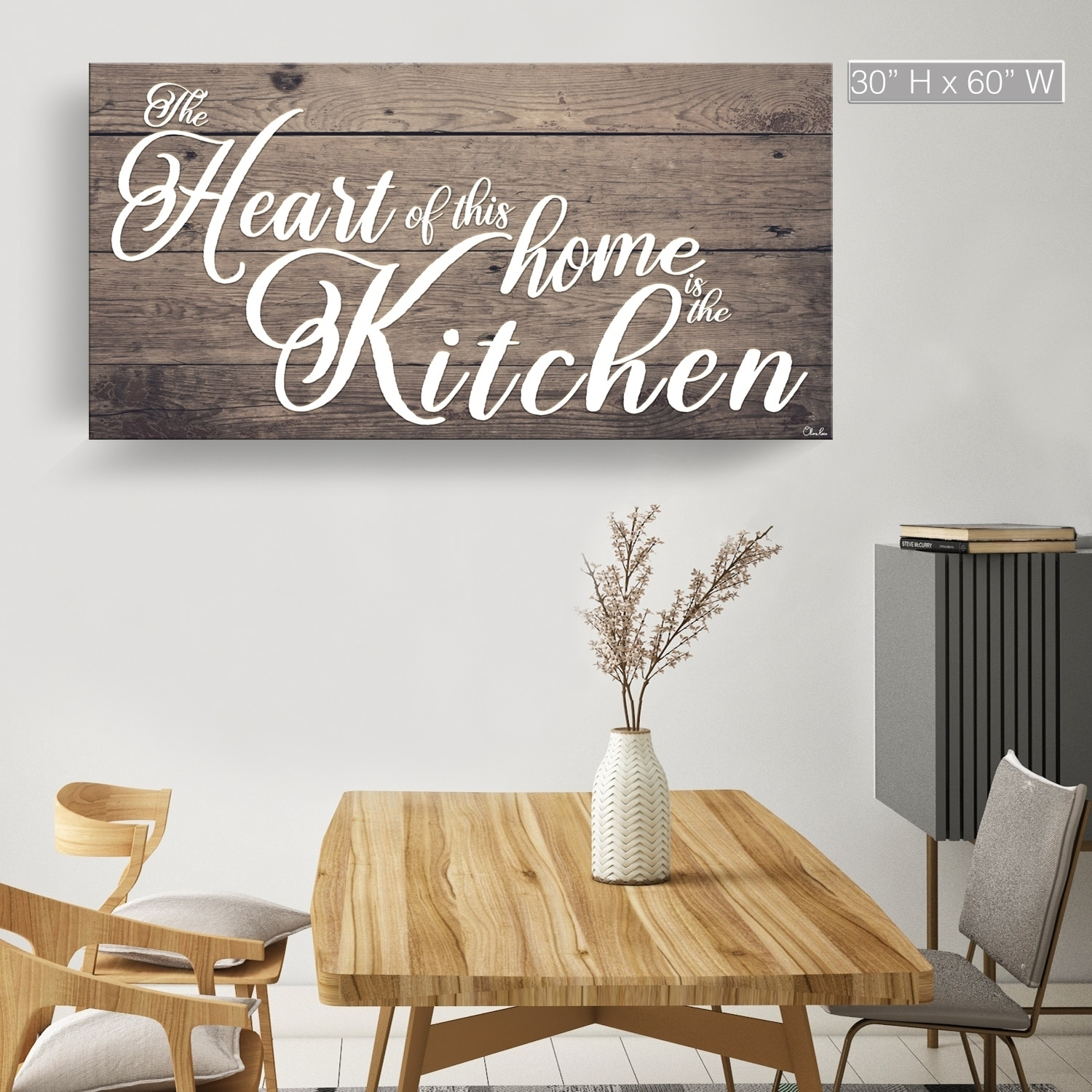 The Gray Barn Where The Heart Is Wrapped Canvas Kitchen Wall Art