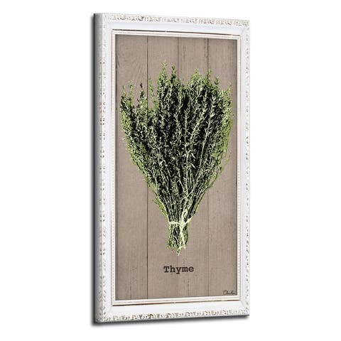 The Gray Barn Botanical 'Thyme' Wrapped Canvas Kitchen Wall Art