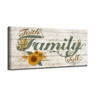 The Gray Barn 'Family' Wrapped Canvas Textual Fall Wall Art