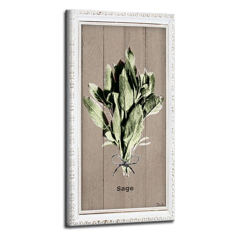 The Gray Barn Botanical 'Sage' Wrapped Canvas Kitchen Wall Art