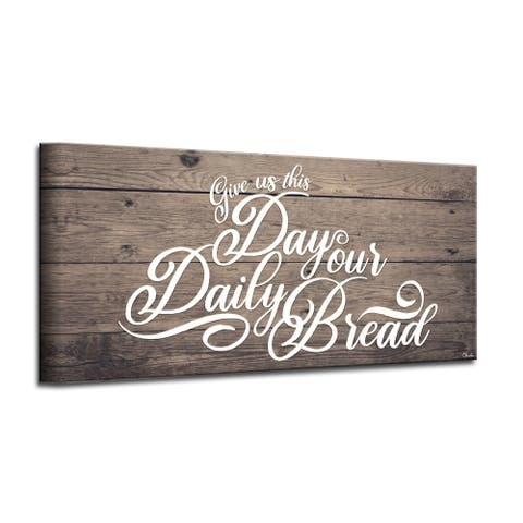 The Gray Barn 'Prayer' Wrapped Canvas Kitchen Wall Art
