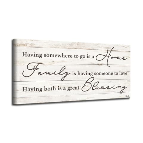 The Gray Barn 'Family Blessing' Wrapped Canvas Textual Harvest Wall Art