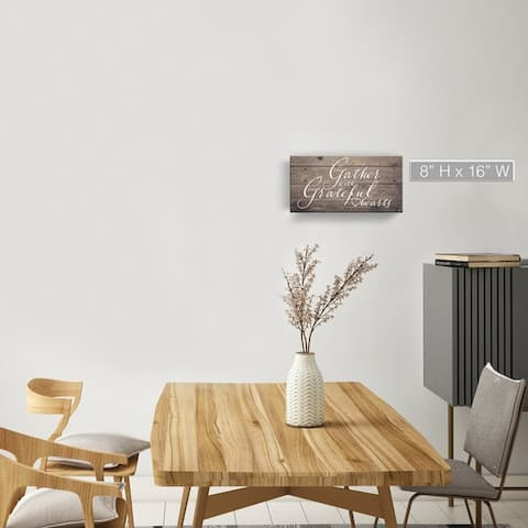 The Gray Barn 'Grateful Hearts' Wrapped Canvas Harvest Wall Art